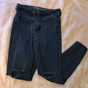 black high waisted American Eagle jeans